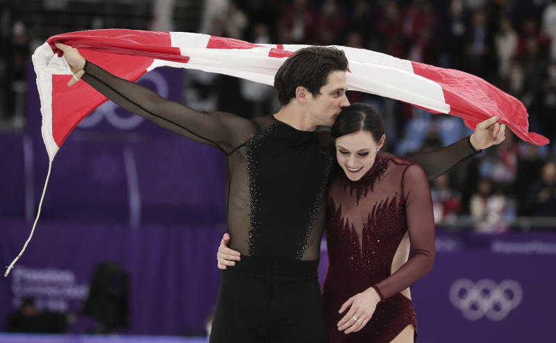 Virtue, Moir win ice dance for 3rd career Olympic gold medal