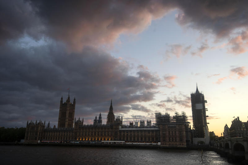 Sunset over the Houses of Parliament in Westminster, London, as the UK continues in lockdown to help curb the spread of the coronavirus. PA Photo. Picture date: Monday May 11, 2020. See PA story HEALTH Coronavirus. Photo credit should read: Victoria Jones/PA Wire