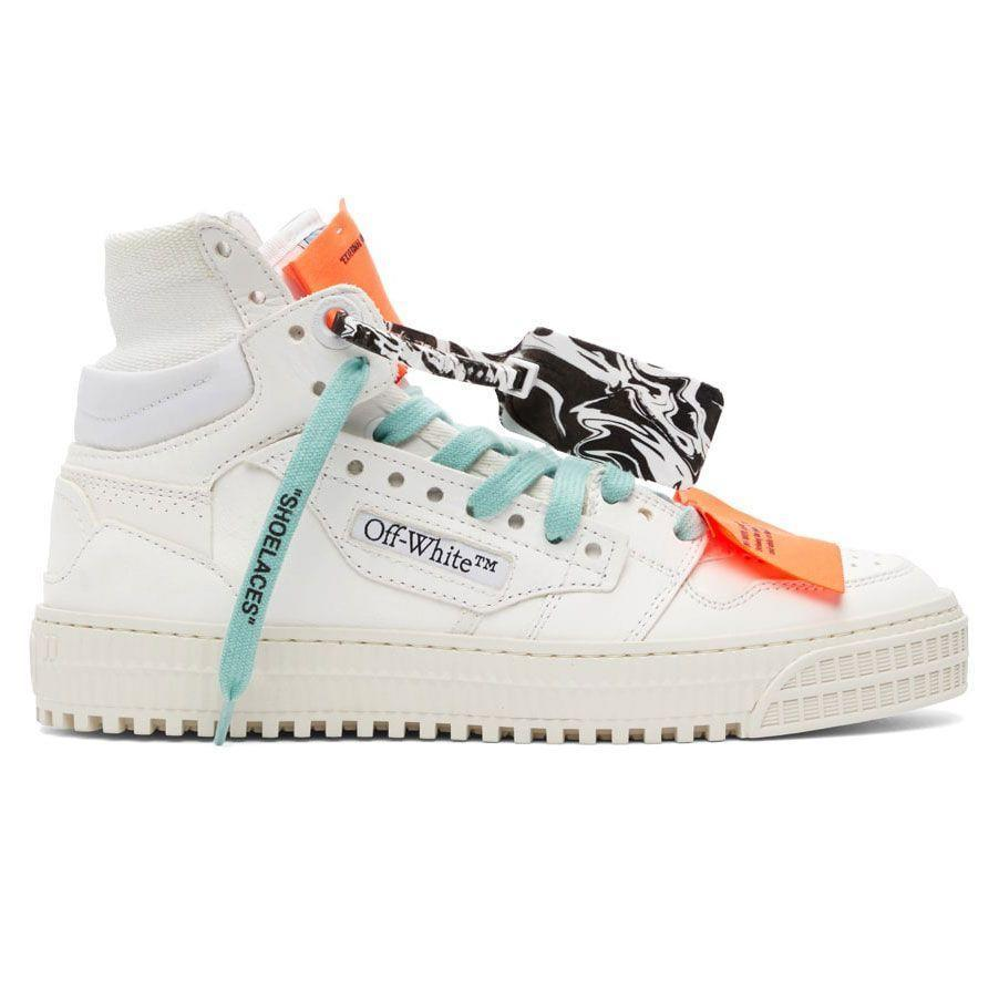 """<p><strong>Off Court 3.0 High-Top Sneakers</strong></p><p>ssense.com</p><p><strong>$760.00</strong></p><p><a href=""""https://go.redirectingat.com?id=74968X1596630&url=https%3A%2F%2Fwww.ssense.com%2Fen-us%2Fmen%2Fproduct%2Foff-white%2Fwhite-and-purple-off-court-3.0-high-top-sneakers%2F6336761&sref=https%3A%2F%2Fwww.esquire.com%2Fstyle%2Fmens-accessories%2Fadvice%2Fg2538%2Fluxury-sneaker-brands-worth-spending-money%2F"""" rel=""""nofollow noopener"""" target=""""_blank"""" data-ylk=""""slk:Shop Now"""" class=""""link rapid-noclick-resp"""">Shop Now</a></p><p>Off-White and its maker, Virgil Abloh, have been grinding away for quite a time. By now, his designs are ubiquitous; they're a hardcore riff on traditional high-fashion. He elevates streetwear by breaking down the """"serious"""" parts of a sneaker. The brand is known for its satirical construction, with normally hidden labels and tags on full display.</p>"""