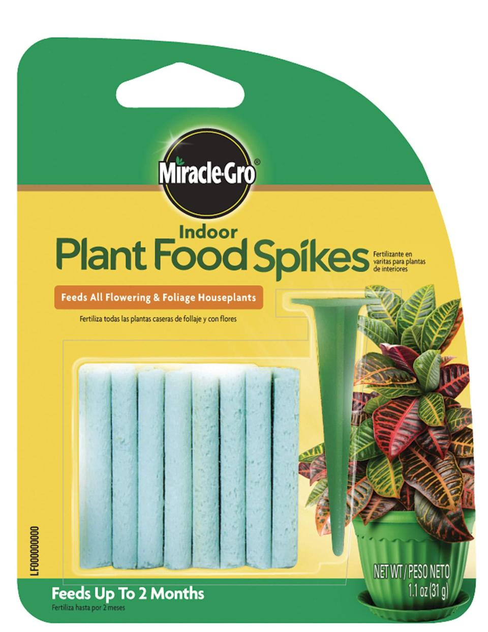 """<h2>Miracle-Gro Indoor Plant Food Spikes</h2><br>An unlikely hot-to-cart May item, these little Plant Food Spikes by Miracle-Gro rose to most wanted fame thanks to a plug from Karina Hoshikawa in our <a href=""""https://www.refinery29.com/en-us/what-to-buy-with-100-dollars"""" rel=""""nofollow noopener"""" target=""""_blank"""" data-ylk=""""slk:Shopping team's monthly MVPs"""" class=""""link rapid-noclick-resp"""">Shopping team's monthly MVPs</a>. """"Naturally, when my snake plant started to look a little withered (I know — I deserve a medal), it was time to consult my plant-whisperer mom. Without skipping a beat, she recommended these Miracle-Gro plant food sticks; according to her testimonial, they successfully revived one of her leafy babies within an inch of death. Sure enough, within a few weeks of popping two little spikes into freshly watered soil, and I'm already seeing healthier happier growth. For $3, consider this insurance for your plant collection,"""" she attested.<br><br><em>Shop <strong><a href=""""https://amzn.to/3pcMbPU"""" rel=""""nofollow noopener"""" target=""""_blank"""" data-ylk=""""slk:Amazon"""" class=""""link rapid-noclick-resp"""">Amazon</a></strong></em><br><br><strong>Miracle-Gro</strong> Indoor Plant Food Spikes, $, available at <a href=""""https://amzn.to/33Rpk2y"""" rel=""""nofollow noopener"""" target=""""_blank"""" data-ylk=""""slk:Amazon"""" class=""""link rapid-noclick-resp"""">Amazon</a>"""