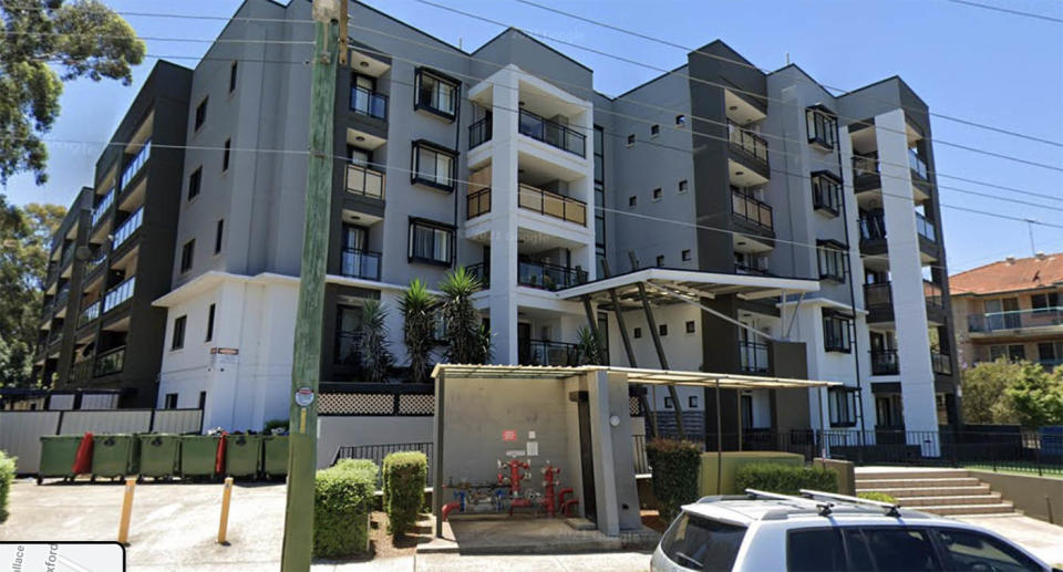 The apartment block in Blacktown is in lockdown after several people tested positive for Covid. Source: Google StreetView