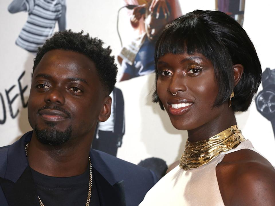 <p>Turner-Smith with her 'Queen & Slim' co-star Daniel Kaluuya</p>Getty Images