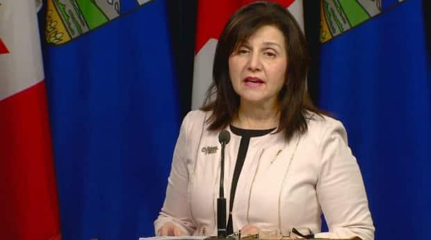 Education Minister Adriana LaGrange introduced Alberta's new elementary school  curriculum on Monday.  (Scott Neufeld/CBC - image credit)