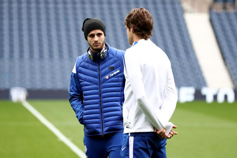 Unhappy | Marcos Alonso has spoken about Alvaro Morata's reaction to his Spain snub: Catherine Ivill/Getty Images