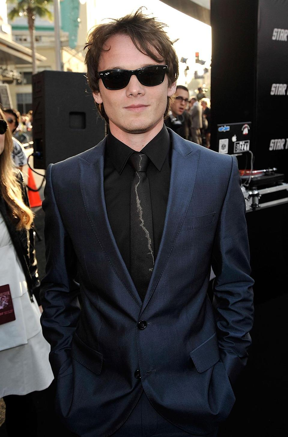 "<p>Anton Yelchin (Chekov) poses at the L.A. premiere. He would pass away in a car accident in 2016; <i>Star Trek Beyond </i>is <a href=""http://www.thedailybeast.com/articles/2016/07/15/star-trek-beyond-review-you-will-mourn-anton-yelchin-but-find-hope-in-its-unifying-message.html"" rel=""nofollow noopener"" target=""_blank"" data-ylk=""slk:partly dedicated"" class=""link rapid-noclick-resp"">partly dedicated</a> to him. <i>(Photo: Kevin Winter/Getty Images)</i></p>"