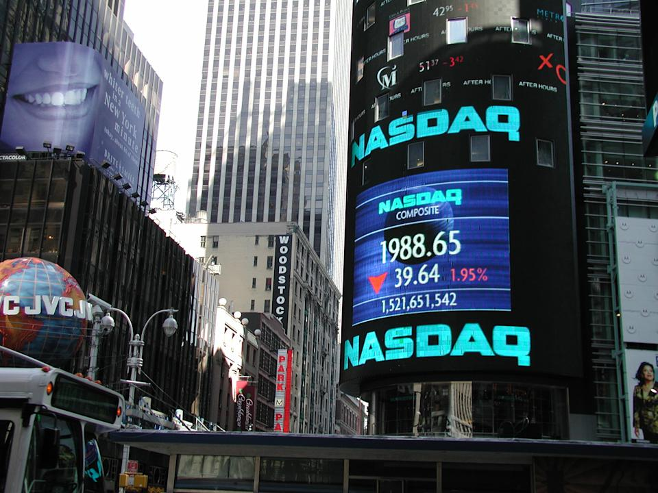 Stock term: Short for the National Association of Securities Dealers Automated Quotations, the NASDAQ is a computer network that reports transactions of over-the-counter stocks. (Photo: Getty Creative)