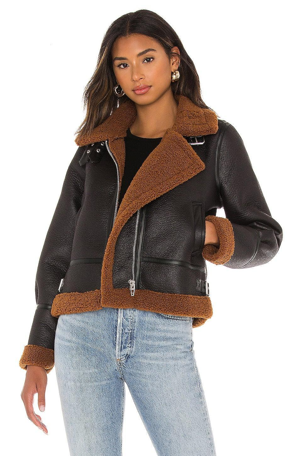 <p>Stay warm and stylish in this <span>BLANKNYC Faux Fur Jacket</span> ($148).</p>