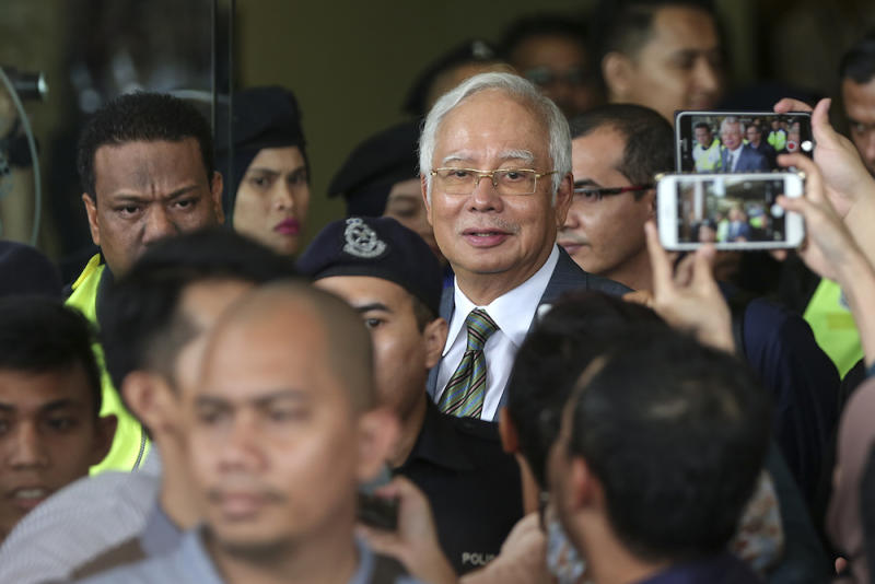 Najib has regularly thrown past allegations against him back in the face of the Pakatan Harapan government. — Picture by Azneal Ishak