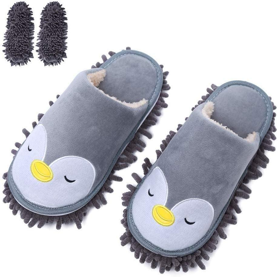 <p>Who could refuse this <span>Mop Cleaning Dusters House Slippers</span> ($14)?</p>