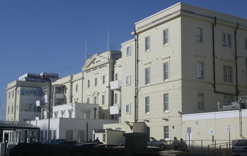 Royal Sussex County Hospital in Brighton.
