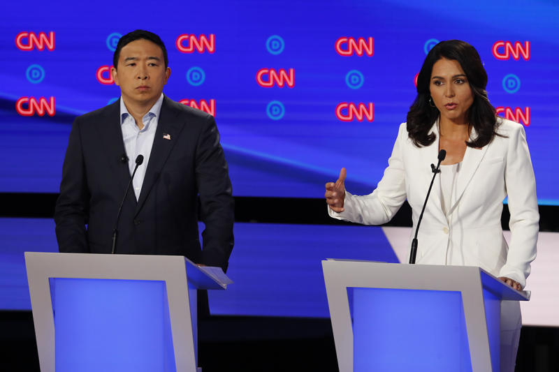 Tulsi Gabbard, Andrew Yang teeter on debate bubble