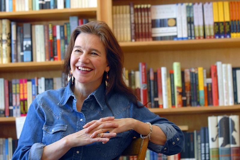 "FILE - This May 16, 2008 file photo shows author Louise Erdrich at her store BirchBark Books in Minneapolis. Erdrich and Junot Diaz are among the finalists for a literary prize chosen by the American Library Association, announced Monday, April 22, 2013. Diaz's ""This Is How You Lose Her"" and Erdrich's ""The Round House"" are nominees for the Andrew Carnegie Medal for Excellence in Fiction. (AP Photo/Dawn Villella, file)"