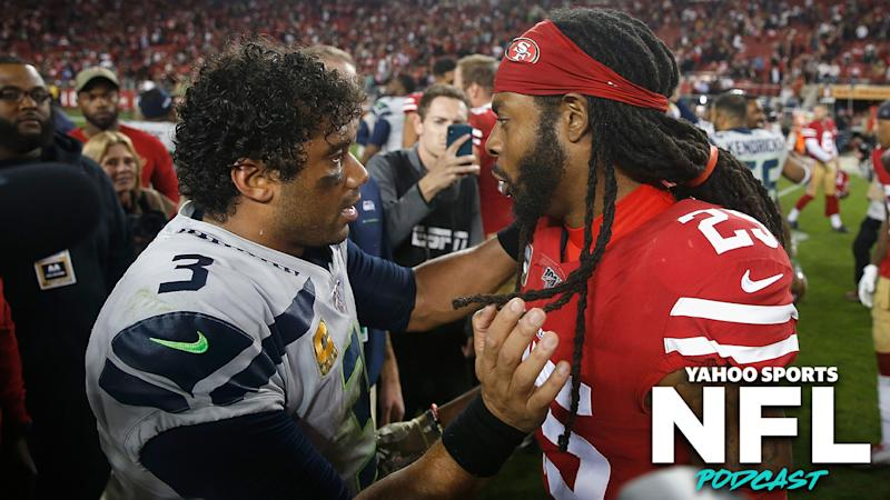 The Monday night duel between the Seattle Seahawks and San Francisco 49ers was the standout game of the season after 11 weeks. (Photo by Lachlan Cunningham/Getty Images)