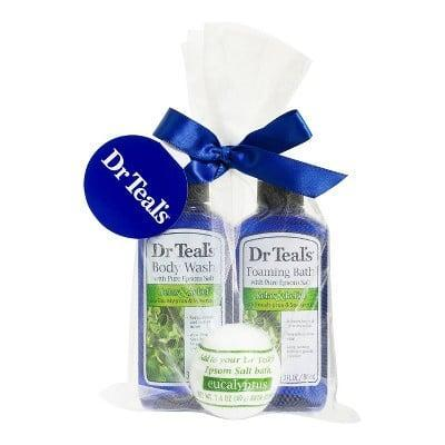 <p>Just in case you have a loved one who needs a little stress relief, the <span>Dr Teal's Mini Bath and Body Gift Set</span> ($5) comes with a eucalyptus-scented body wash, foaming bath, and bath bomb.</p>