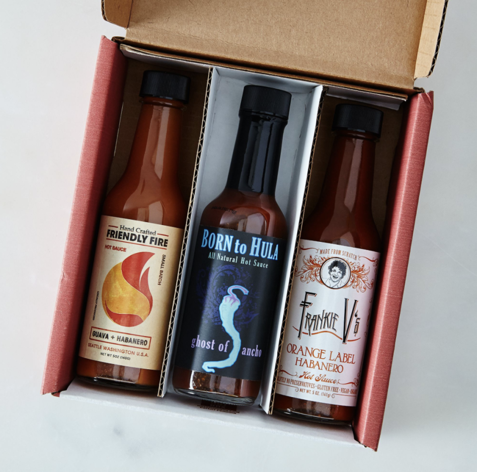 """<p><strong>$120 per quarter</strong></p><p>For those who are something of a heat-seeker, the fuego box will send a selection of curated, small-batch hot sauces that focus on the perfect balance of heat and flavor. These condiments won't burn off your tastebuds, but they will elevate anything you sprinkle them on. </p><p><a class=""""link rapid-noclick-resp"""" href=""""https://go.redirectingat.com?id=74968X1596630&url=https%3A%2F%2Ffood52.com%2Fshop%2Fproducts%2F3081-small-batch-quarterly-hot-sauce-subscription&sref=https%3A%2F%2Fwww.goodhousekeeping.com%2Ffood-products%2Fg5043%2Fbest-monthly-food-subscription-boxes%2F"""" rel=""""nofollow noopener"""" target=""""_blank"""" data-ylk=""""slk:BUY NOW"""">BUY NOW</a></p>"""