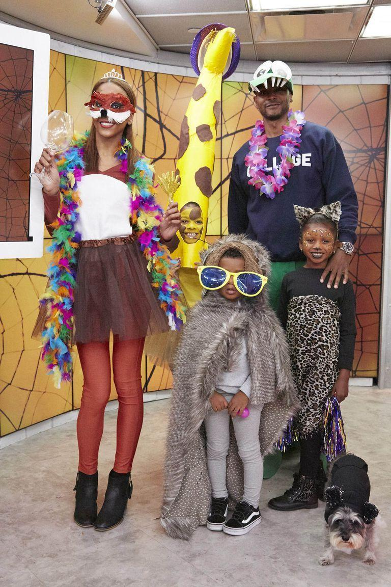<p>As seen on <em>Kathie Lee & Hoda</em>! Depending on how crafty you are, you can keep this family costume simple — like wearing an animal mask or wrapping a leopard-print scarf around your body — or get really creative, like creating a papier mache giraffe head. </p>