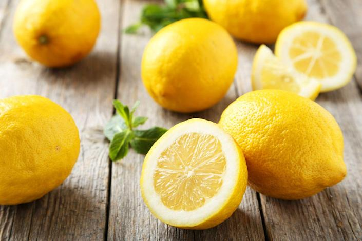"""<p>Along with its impressive concentrations of vitamin C, lemon's flavonoid compounds have been shown to have anti-cancer properties. But lemons may be healthiest in a supporting role: Add a little to your <a href=""""https://www.prevention.com/health/a20514744/herbal-tea-health-benefits/"""" rel=""""nofollow noopener"""" target=""""_blank"""" data-ylk=""""slk:tea"""" class=""""link rapid-noclick-resp"""">tea</a>, and your body will absorb more of the drink's healthy antioxidants, finds research from Purdue University. </p><p><strong>Try it: </strong><a href=""""https://www.prevention.com/food-nutrition/recipes/a22035251/orange-lemon-popsicle-recipe/"""" rel=""""nofollow noopener"""" target=""""_blank"""" data-ylk=""""slk:Orange-Lemon Popsicles"""" class=""""link rapid-noclick-resp"""">Orange-Lemon Popsicles</a></p>"""