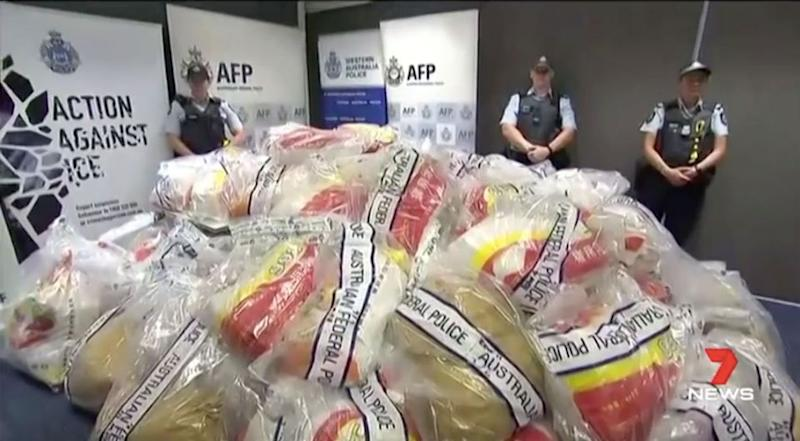 Ice use is down 12.5 per cent, statistics reveal. Source: 7 News