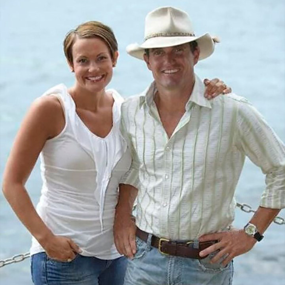 Joanna and Rob on Farmer Wants a Wife in 2008.