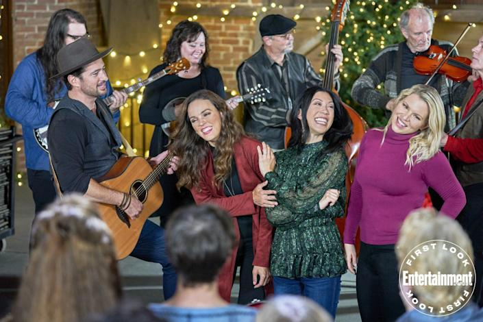 """<p><strong>Premieres: </strong>Nov. 18, Hallmark Movies Now</p> <p><strong>Stars:</strong> Erin Cahill, Brittany Ishibashi, Ali Leibert, Wes Brown </p> <p><strong>Contains:</strong> Scavenger hunt, sisterly bonding</p> <p><strong>Official description:</strong> """"Three sisters reunite in their hometown of Natchez, MS, at Christmas after a long time apart. They're surprised to discover their late father had planned one last scavenger hunt for them to find the family's wooden wishing bell, a beloved, annual holiday tradition when they were young. As they search for clues in the days leading up to Christmas, the trio visits local childhood haunts around Natchez that hold special meaning for them. In the process, their sisterly bond is rekindled and each learns an important lesson about what they want in life and in love.""""</p>"""