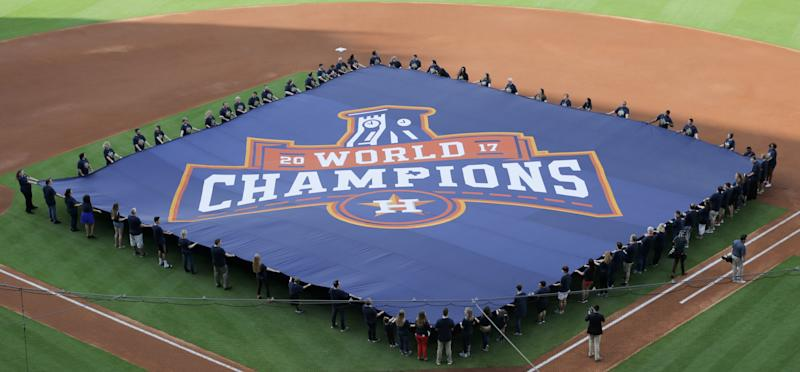There's a shadow over Houston's championship. (Photo by Bob Levey/Getty Images)