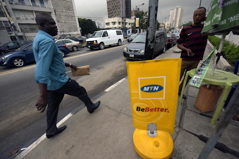 The regulator (Arcep) wants MTN Benin to pay 134.4 billion CFA francs -- the equivalent of $213 million (205 million euros) -- in frequency fees for 2016 and 2017 (AFP Photo/PIUS UTOMI EKPEI)