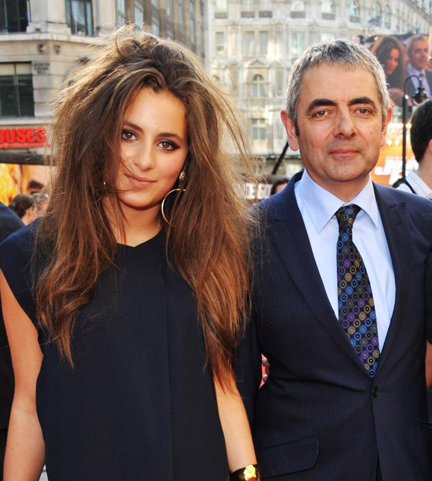 Lily and Rowan Atkinson