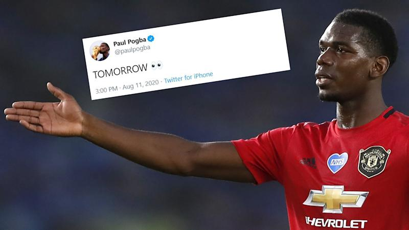 'Tomorrow' - Pogba raises hopes of new Man Utd contract with cryptic social media post - but star says it's 'nothing about football'