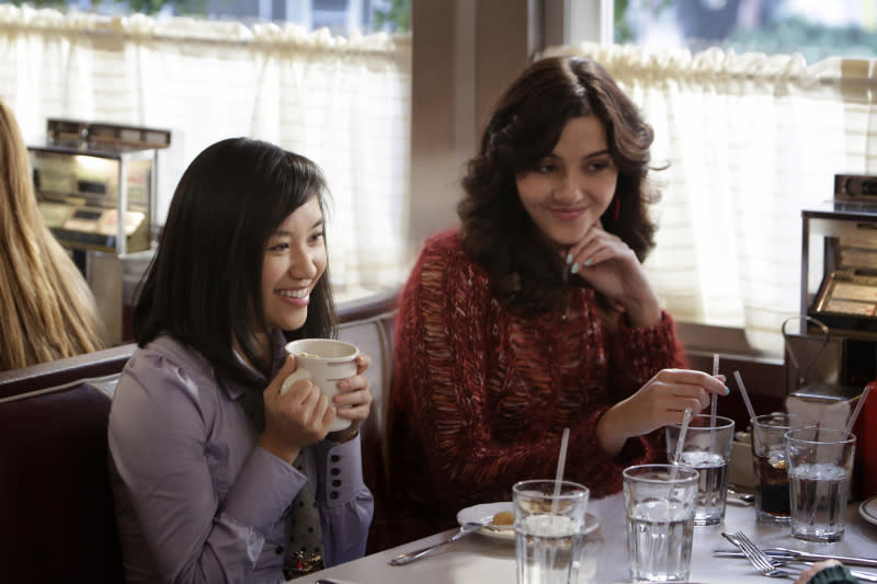 """""""Fright Night"""" -- Ellen Wong as Mouse and Katie Findlay as Maggie"""