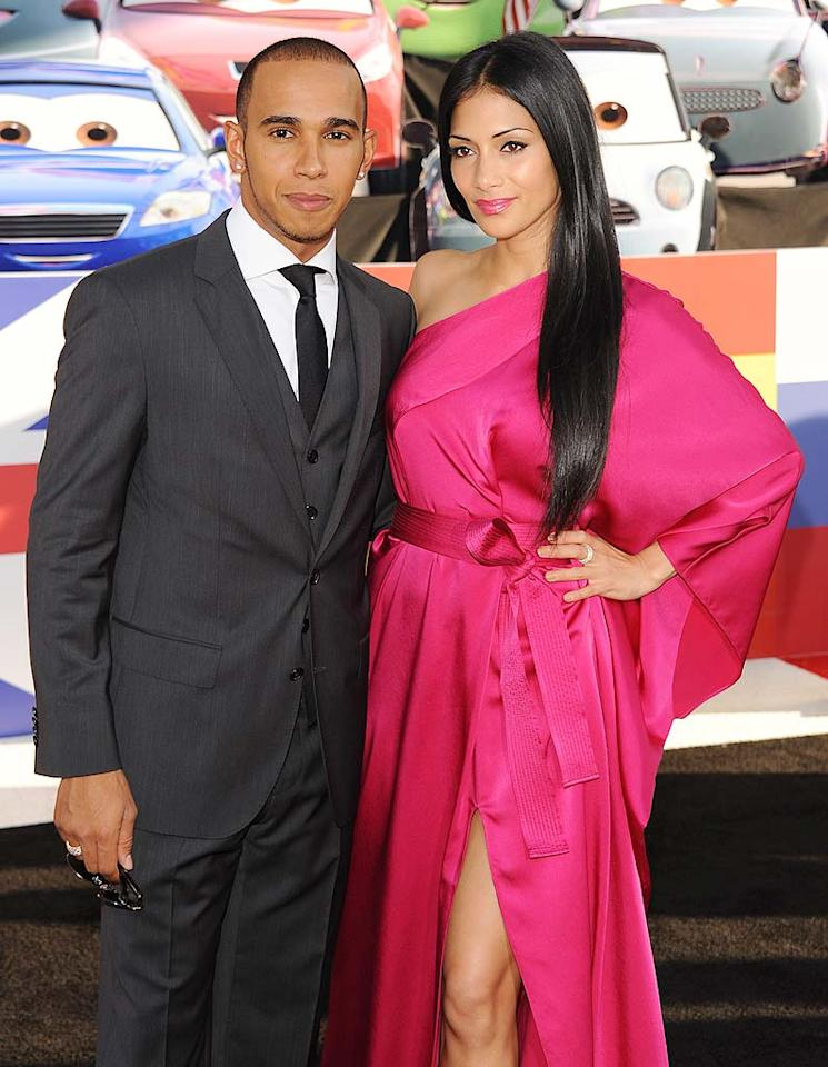 """Singer Nicole Scherzinger and beau Lewis Hamilton became exes when they split after four years in October. The """"X Factor"""" judge and Hamilton reportedly couldn't coordinate their schedules: She was based in L.A., while he was based in Switzerland."""