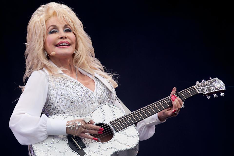 <p>Pyramid Stage perfection: Dolly Parton at Glastonbury in 2014</p> (Getty Images)