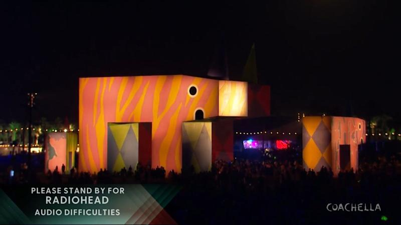 Empty stage at Coachella.