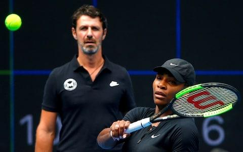 <span>Serena Williams's coach, Patrick Mouratoglou was warned during the US Open last September</span> <span>Credit: REUTERS </span>