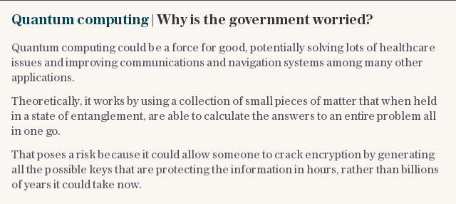 Quantum computing | Why is the government worried?