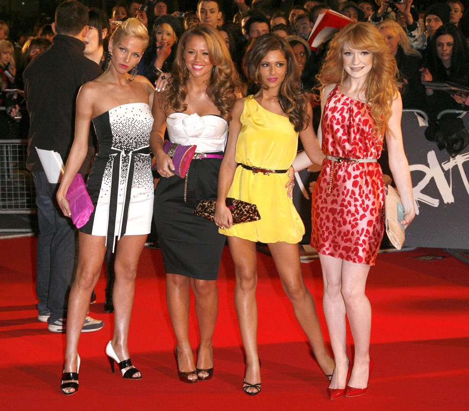 Photo by: DP/AAD/STAR MAX/IPx 2021 9/5/21 Sarah Harding of 'Girls Aloud' has passed away at age 39. STAR MAX File Photo: 2/20/08 Girls Aloud at the Brit Awards. (London, England)