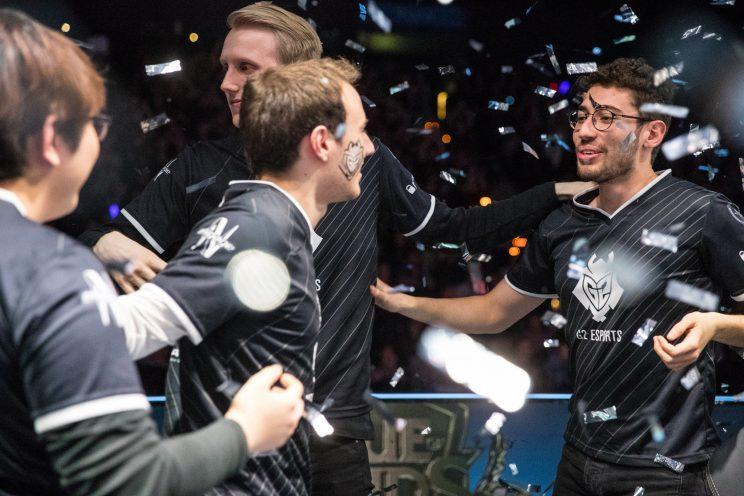G2 Esports celebrate their third consecutive EU LCS victory (lolesports)