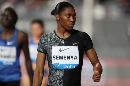 Athletics - Diamond League - Doha - Khalifa International Stadium, Doha, Qatar - May 3, 2019 South Africa's Caster Semenya before the women's 800m REUTERS/Ibraheem Al Omari