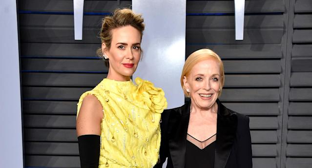 Actress Holland Taylor (right, with Sarah Paulson) enjoys playing a character who hasn't retreated because of her age. (Photo: John Shearer/Getty Images)