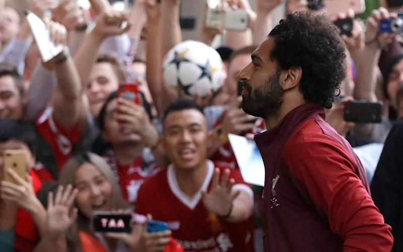 Mohamed Salah arrives in Kiev for Saturday's final - AP