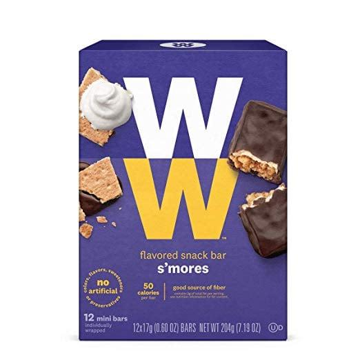 "<p>One of these <a href=""https://www.popsugar.com/buy/WW-Smores-Mini-Bars-460708?p_name=WW%20S%27mores%20Mini%20Bars&retailer=amazon.com&pid=460708&price=14&evar1=fit%3Aus&evar9=46285295&evar98=https%3A%2F%2Fwww.popsugar.com%2Ffitness%2Fphoto-gallery%2F46285295%2Fimage%2F46285298%2FWW-Smores-Mini-Bar&list1=shopping%2Camazon%2Cdessert%2Clow%20calorie%2Chealthy%20desserts&prop13=mobile&pdata=1"" rel=""nofollow"" data-shoppable-link=""1"" target=""_blank"" class=""ga-track"" data-ga-category=""Related"" data-ga-label=""https://www.amazon.com/WW-Chocolate-Caramel-Mini-Bar/dp/B07NJ3QXYS/ref=sr_1_103?crid=3JUX49JY3SWJU&amp;keywords=healthy%2Bdesserts%2Bsnacks&amp;qid=1560886638&amp;s=gateway&amp;sprefix=healthy%2Bdesserts%2Caps%2C124&amp;sr=8-103&amp;th=1"" data-ga-action=""In-Line Links"">WW S'mores Mini Bars</a> ($14) has only 50 calories!</p>"