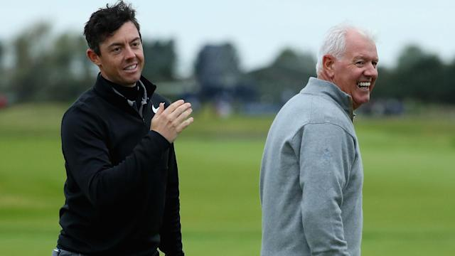Rory McIlroy's ambitious schedule is a lot about getting ready for the Masters and more than a little about playing at Pebble Beach with a special amateur partner - his father.