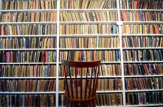"<div class=""caption-credit""> Photo by: etsy.com</div><b>Out: Bookshelves.</b> Sadly, the home library is becoming a thing of the past as Kindles, Nooks and iPads rack up digital volumes."