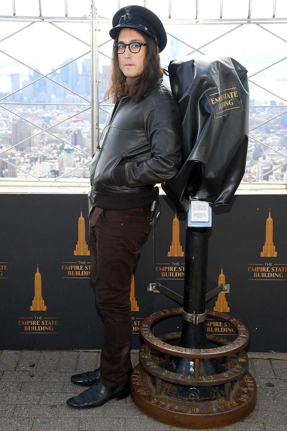 <p>Sean Ono Lennon attends the Empire State Building Lighting Ceremony in honor of his late dad John Lennon's 80th birthday on Thursday in N.Y.C. </p>