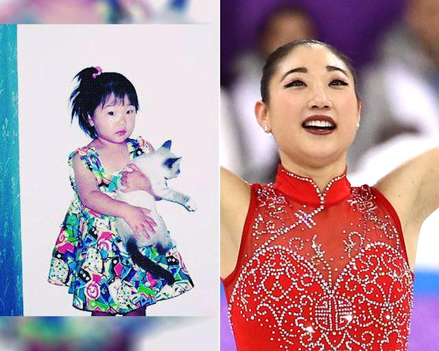 <p><strong>THEN:</strong> Sweet Mirai Nagasu hugs a friend.<br><strong>NOW:</strong> She's the first American female skater to land a triple axel at the Olympics.<br> (Photo via Instagram/mirainagasu, Photo by Jamie Squire/Getty Images) </p>