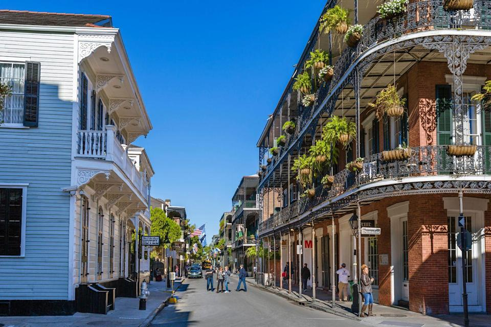 """<p><strong>New Orleans, Louisiana</strong></p><p>There are a lot of reasons to tick New Orleans off your bucket list, although for many it's due to the city's infamous Bourbon Street. There, it's a raucous party every night of the year, and you can carry your booze on the streets, hopping from bar to bar. It's at its height during Mardi Gras, of course, but if partying isn't your scene, there's plenty of other things to do around town, especially if you're into food. Plus, the Southern architecture is beautiful and — depending on what you believe — possibly haunted.</p><span class=""""copyright"""">Photo: Ian Dagnall / Alamy. </span>"""