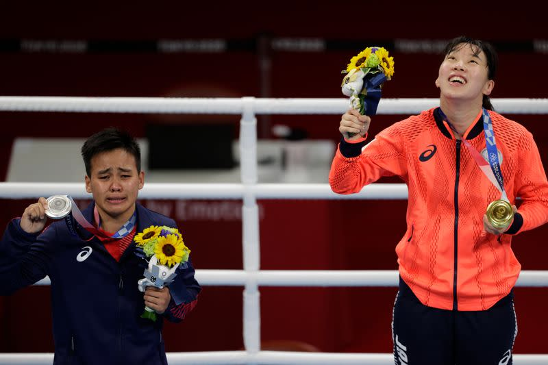 Boxing - Women's Featherweight - Medal Ceremony