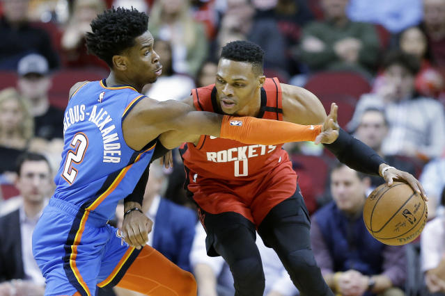 Only Russell Westbrook and LeBron James have recorded a triple-double against all 30 teams in the league. (AP/Eric Christian Smith)