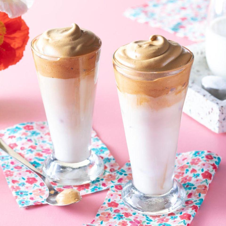 """<p>Upgrade Mom's morning cup of joe with creamy, frothy Dalgona coffee. The TikTok-famous drink looks like a fancy barista creation, but it's easy to whip up at home.</p><p><a href=""""https://www.thepioneerwoman.com/food-cooking/recipes/a35824250/whipped-coffee/"""" rel=""""nofollow noopener"""" target=""""_blank"""" data-ylk=""""slk:Get the recipe."""" class=""""link rapid-noclick-resp""""><strong>Get the recipe.</strong></a></p><p><a class=""""link rapid-noclick-resp"""" href=""""https://go.redirectingat.com?id=74968X1596630&url=https%3A%2F%2Fwww.walmart.com%2Fbrowse%2Fkitchen-dining%2F4044_623679%3Fcat_id%3D4044_623679_639999_3148543%26facet%3Dbrand%253AThe%2BPioneer%2BWoman%26page%3D1&sref=https%3A%2F%2Fwww.thepioneerwoman.com%2Ffood-cooking%2Frecipes%2Fg36145857%2Fbreakfast-in-bed-recipes%2F"""" rel=""""nofollow noopener"""" target=""""_blank"""" data-ylk=""""slk:SHOP DRINKWARE"""">SHOP DRINKWARE</a></p>"""