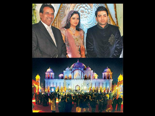 The guest list included about 15000 people each of whom reportedly received 11,000 rupees as shagun and those who attended the lagan function got a 30 gms silver biscuit, a safari suit and rupees 2100 cash each. The Indian Prime Minister, the king of Bollywood- Shahrukh Khan and all top notch politicians attended the wedding functions. This was a high profile political wedding. The total amount spent was approximately 250 crore.