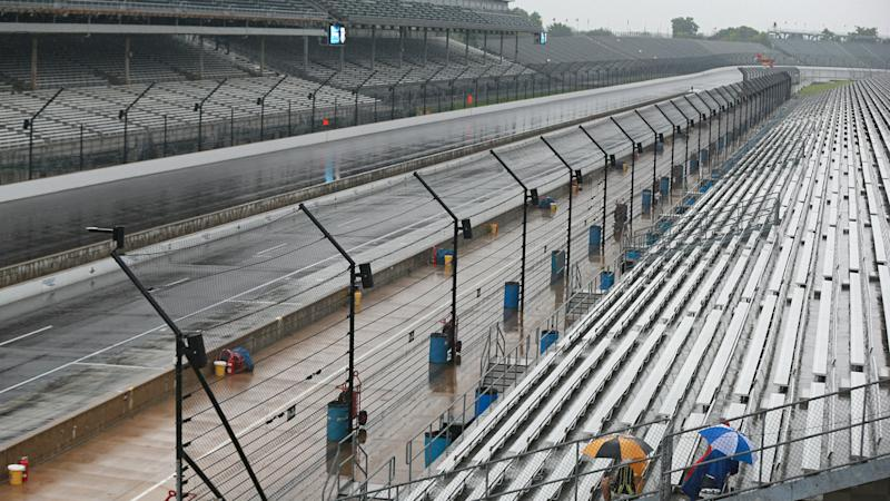 Weather puts NASCAR Cup race on hold for now at Indy